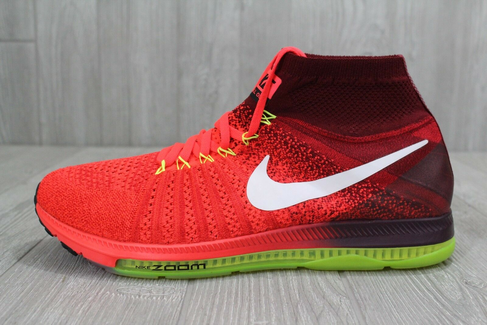 26 New Mens Nike Zoom All Out Flyknit Red/White/Volt Shoes Sz 10 12 844134 616 best-selling model of the brand