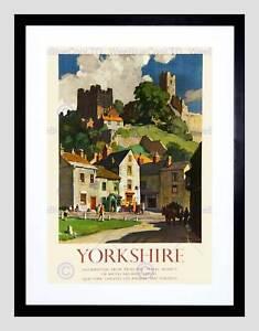Travel Richmond Yorkshire UK Castle Green Market Square Art Print 12x16 Inch