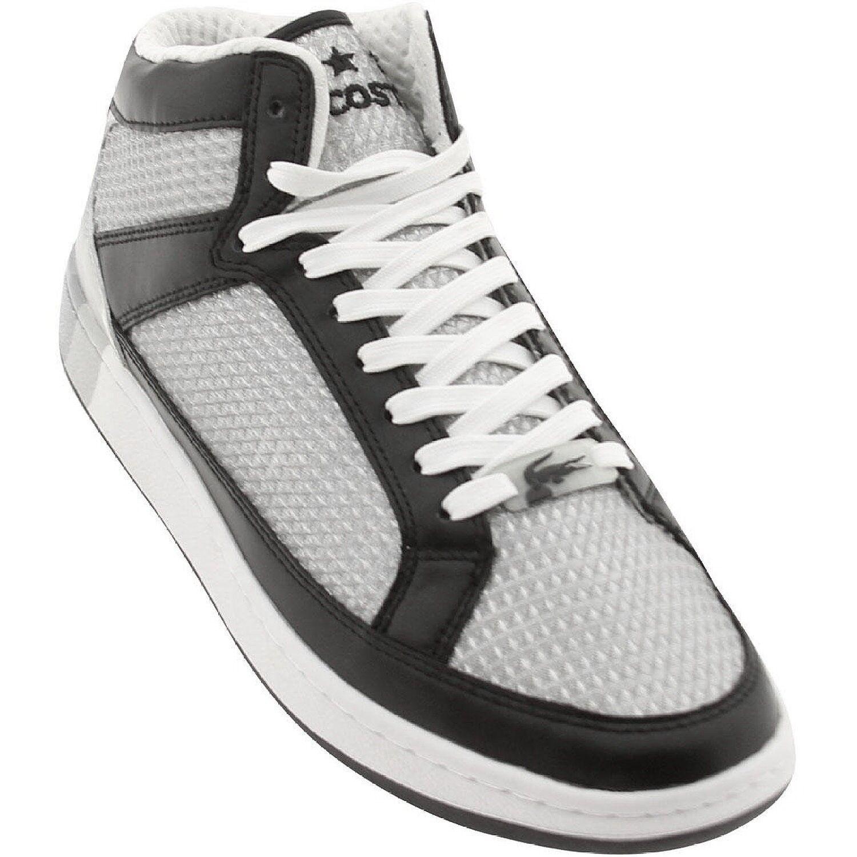 Lacoste Revan 3 HI Space STM Schuhe Turnschuhe schwarz silber 7 18STM166122F WOW