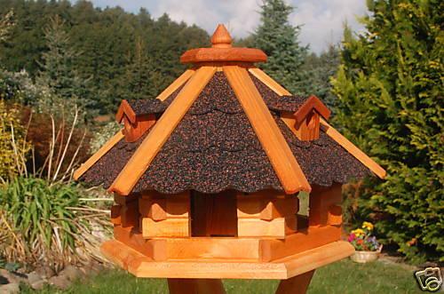 * casetta uccelli Villa 46x32cm tetto in scuro v18