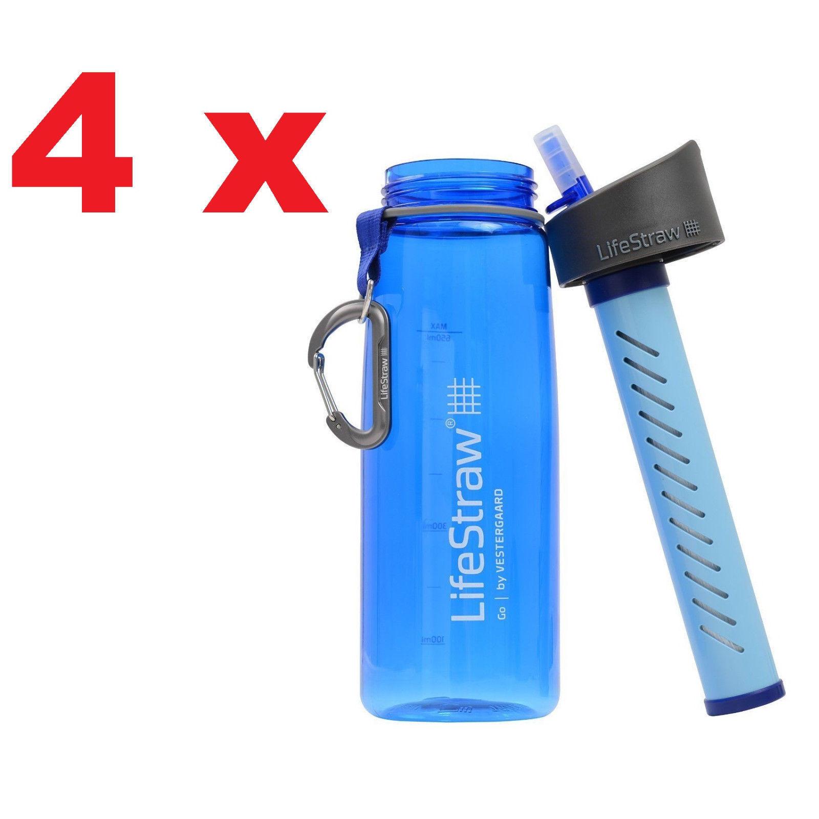 4X Original Vestergaard Go botella filtro de agua al aire libre portátil paja de vida libre de BPA