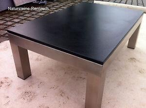 Nero Assoluto Satiniert couchtisch naturstein nero assoluto satiniert edelstahlgestell