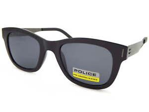 4313ae5f4a4fa2 Police Polarisé Pari 2 Lunettes de Soleil Noir Brillant Gris ...