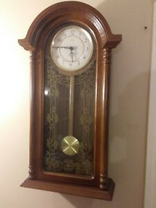 Vintage Archtop Verichron Oak Wall Clock W Westminster