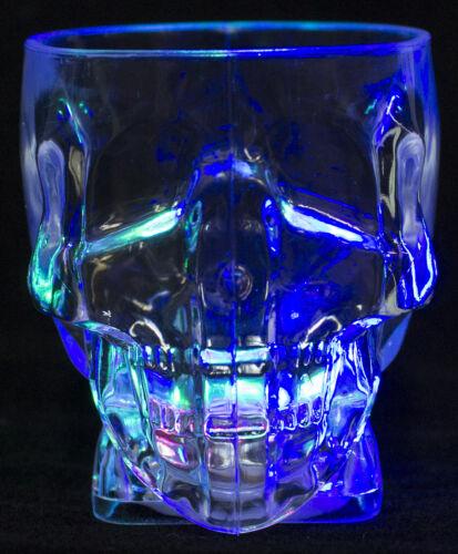 Set of 2 Skullie Spirits Flashing Skull Shaped Acrylic Shotglasses
