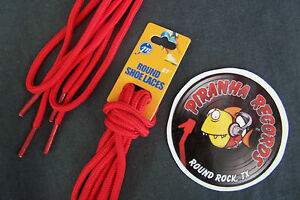 Red-Thin-Round-27-034-x-1-8-034-3-8-034-JN-Shoelaces-Shoe-Strings-Piranha-Records
