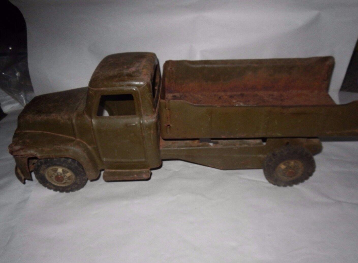 Signé Vintage Pressed Steel  Buddy L  camion benne