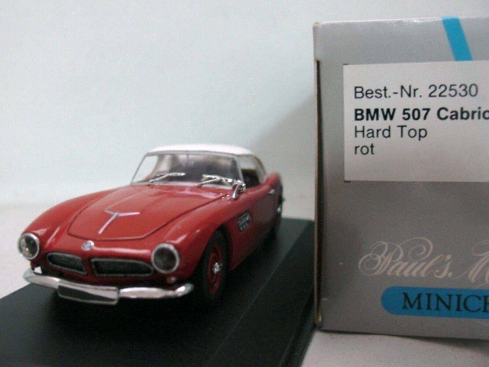 Wow EXTRÊMEHommesT RARE BMW 507  3.2 V8 1956 Rouge Blanc Hard Top 1 43 Minichamps - 2002  liquidation de la boutique