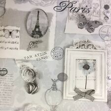Felicity Shabby Chic Wallpaper by Arthouse - Grey / Silver 665401