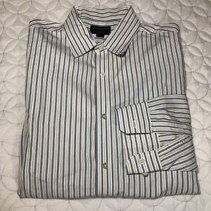 Banana-Republic-Striped-Classic-Fit-Long-Sleeve-Shirt-Mens-16-16-1-2-L-EUC