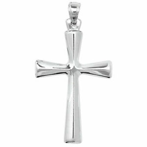30mm x 13mm Solid 925 Sterling Silver Cross Pendant Crucifix Charm
