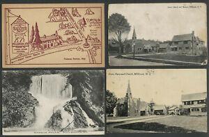 Millbrook-NY-Lot-of-Four-c-1907-1940s-Postcards-Blacksmith-Shop-Daheim-Falls