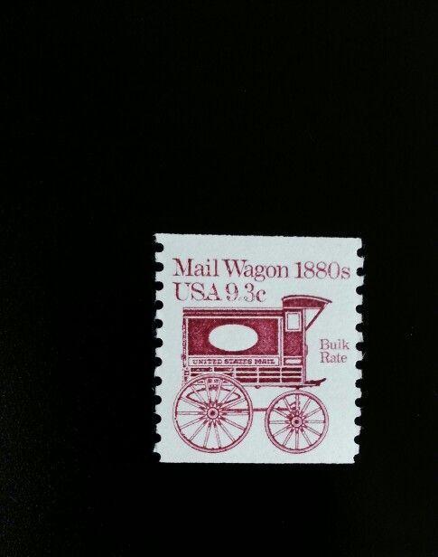 1981 9.3c Mail Wagon, Coil Scott 1903 Mint F/VF NH