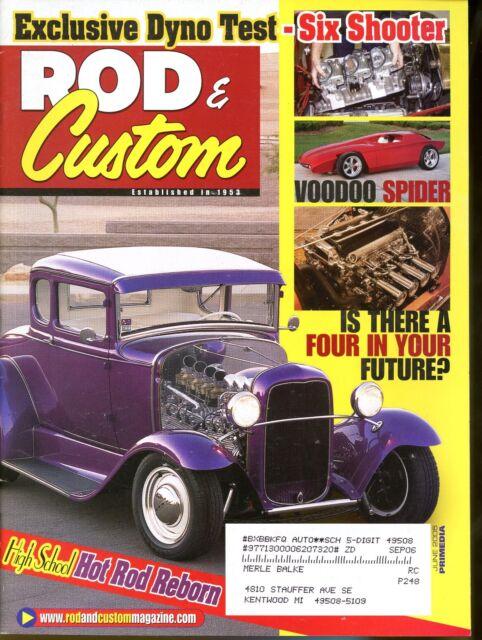 Rod & Custom Magazine June 2005 High School Hot Rod Reborn Dyno Test Six Shooter