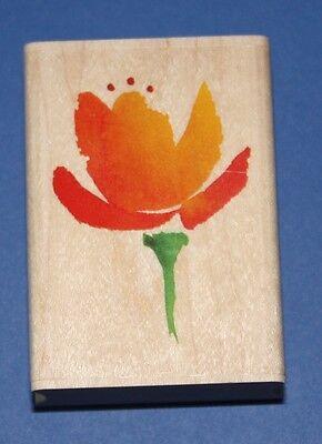 NEW Inkadinkado 'Flaming Tulip' Wooden Backed Rubber Stamp 97804LL
