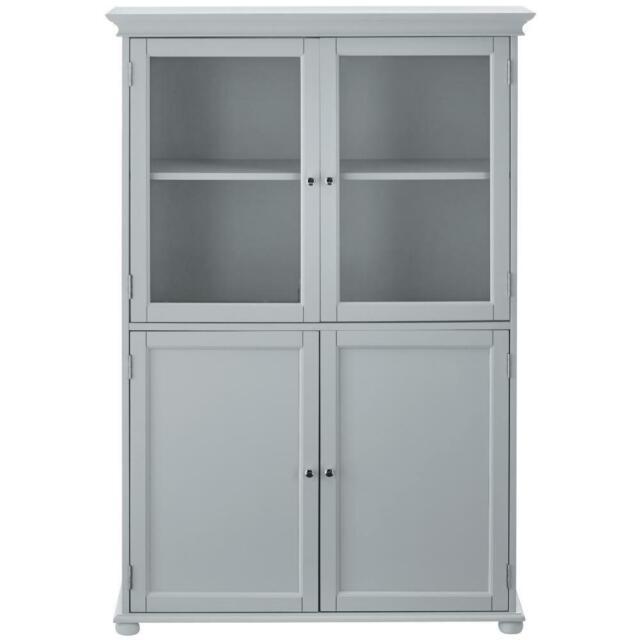 Corner Bathroom Linen Storage Cabinet