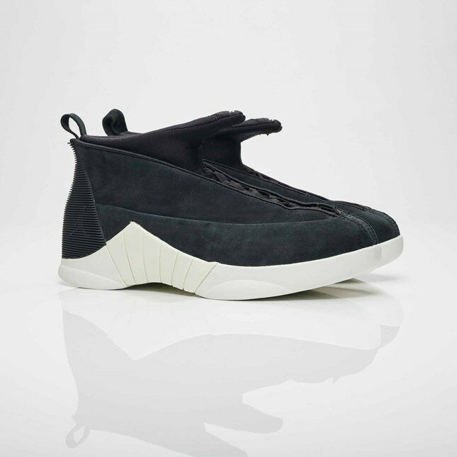 Nike Air Jordan 15 XV Retro PSNY Friends and Family Noir Suede Sail 921194-011