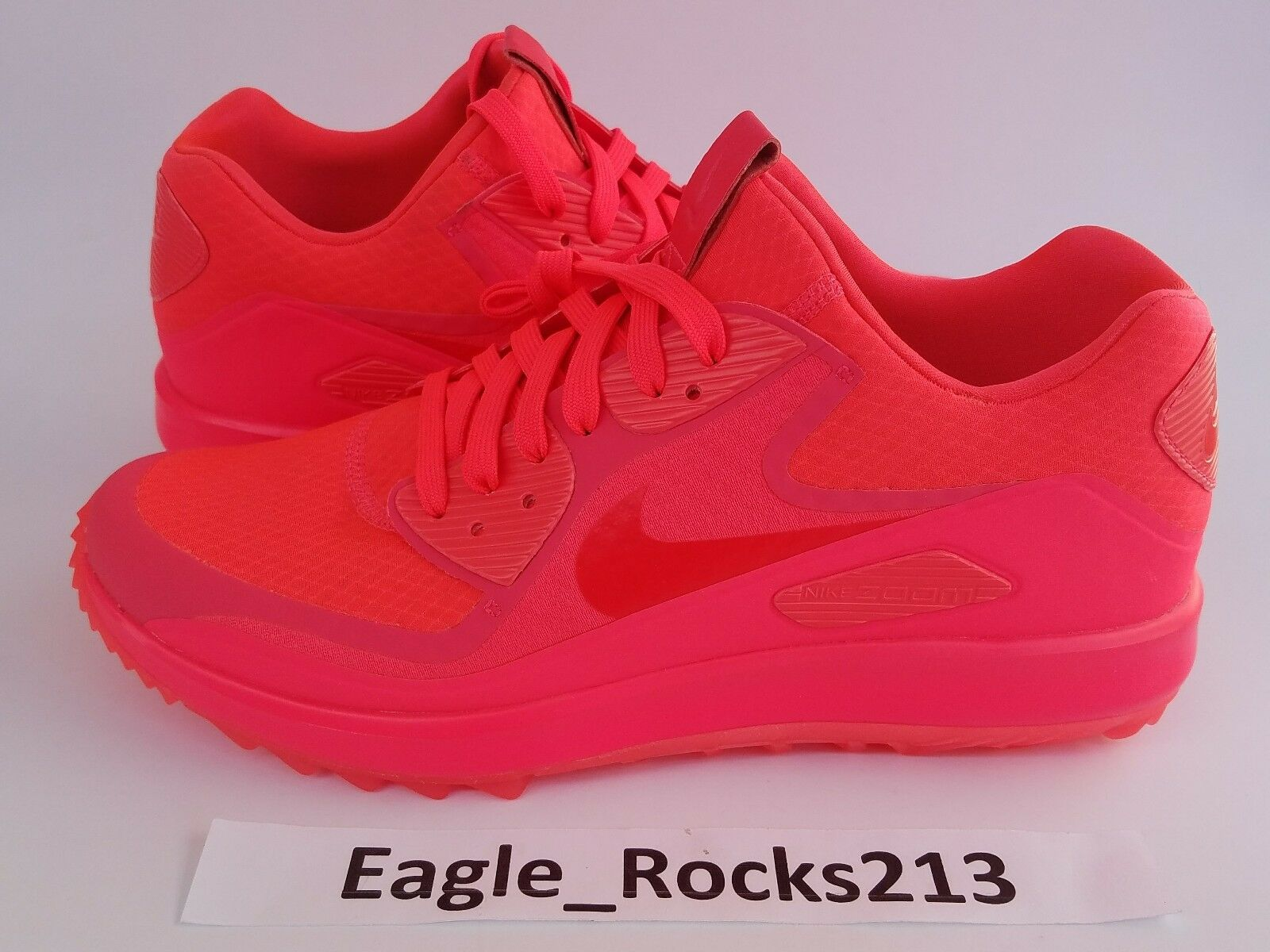 Nike Air Zoom 90 IT Golf Rory McIlroy Mens Solar Red Neon Size 9 844569 Shoes