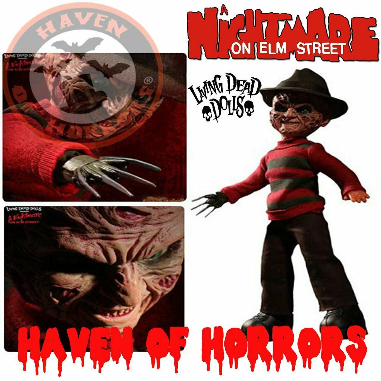 Nightmare on Elm Straße Frotdy Krueger Living Dead Doll with Sound
