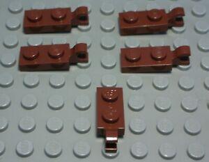 980 # Lego Platte mit Clip 1x2 new Braun 5 Stück