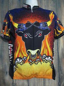 5d152b066 Primal Wear Mens size XL Bicycle Cycling Jersey Raging Bull 3 4 Zip ...