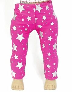Hot-Pink-Star-Leggings-18-in-Doll-Clothes-Fits-American-Girl-Dolls