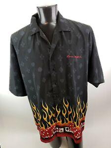 XNT-Hawaiian-Shirt-Cards-Casino-Gambling-Las-Vegas-Men-s-3XL-Flames-Dice-Poker