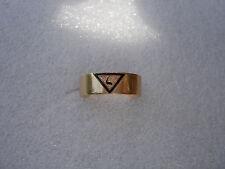 ANTIQUE  14K  YELLOW GOLD ENAMEL  mans Masonic Scottish Rite 14th degree RING  8