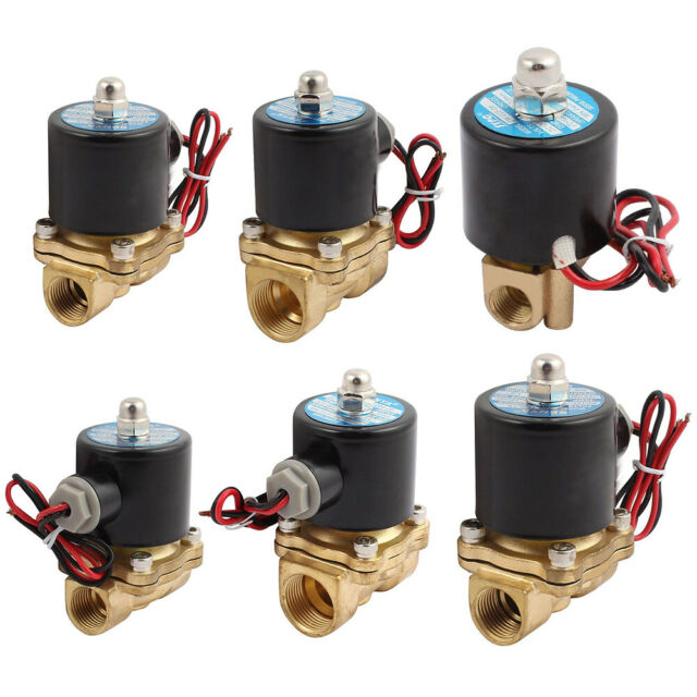 AC 220V DC 12V Normal Closed Electric Solenoid Valve Water Air  Brass N/C AU