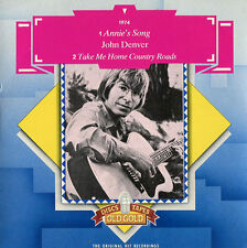 "John Denver ""Annie's Song / Country Roads"" NM U.K. Old Gold 45 w/ Picture Sleeve"