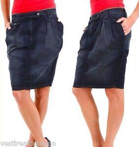 Gonna-Jeans-Denim-Donna-SEXY-WOMAN-A306-Tg-M-L