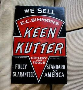 1920-039-s-Keen-Kutter-porcelain-flange-display-sign-very-old-and-good-condition