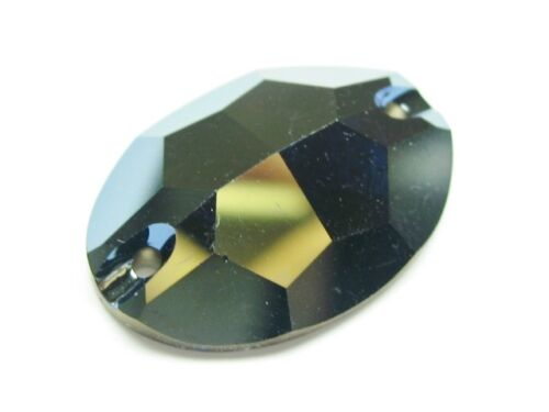 1pc Swarovski ® Oval 24x17mm Crystal Bronze Shade Sew on Swarovski ref 3210