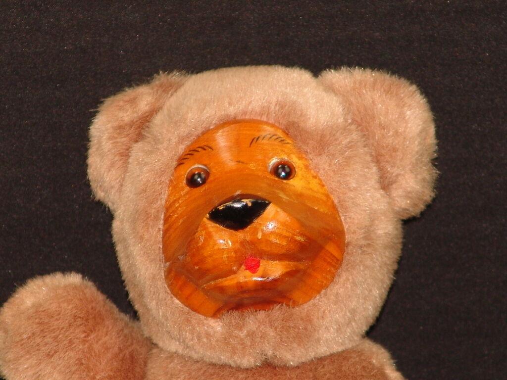 CUTE FULLY JOINTED WOODEN FEET TEDDY BEAR PLUSH Raikes Plush Stuffed Animal Toy