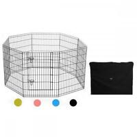 Wire Fence Pet Dog Folding Exercise Yard 8 Panel Metal Playpen W/carry Case 004