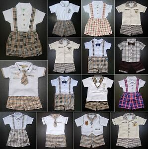 BABY-BOY-OUTFIT-Designer-Clothing-Boys-Shorts-amp-Top-Set-for-Aged-0-4-Years-Old