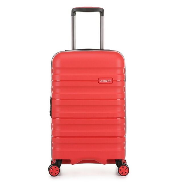 Antler Juno 2.0 Small 56cm Hardside 4 Wheel Suitcase in Red