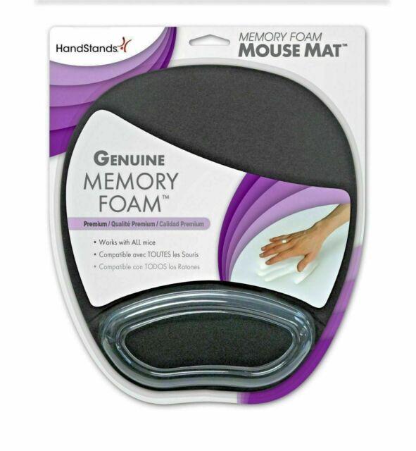HandStands Memory Foam Mouse Pad Mat Premium Genuine Memory Foam Hand Rest Black