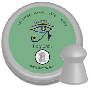iHunter-Holy-Grail-Premium-Domed-177-4-5mm-Air-Gun-Pellets-Qty-250-free-P-amp-P