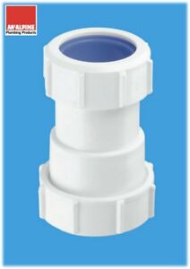 """S28L-ISO Waste pipe adapter UK to European (1 1/4"""" to 32mm) McAlpine"""