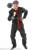 Disney Mens Bert the Chimney Sweep Victorian Fancy Dress Costume Outfit STD & XL