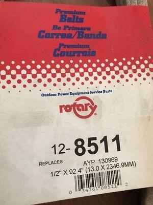 Rotary 5125 Deck Belt Fits AYP Craftsman Husqvarna 130969 532130969 Poulan