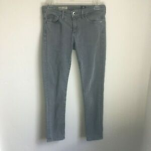 AG-Adriano-Goldschmied-Womens-Size-27R-Stevie-Ankle-Gray-Slim-Straight-Leg-Jean