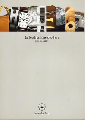 Catalogue La Boutique Mercedes-benz Collection 2003 De 80 Pages Tbe Glanzend Oppervlak