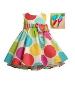 Bonnie-Jean-Girls-Multi-Color-Polka-Dot-Birthday-Party-Dress-amp-Headband
