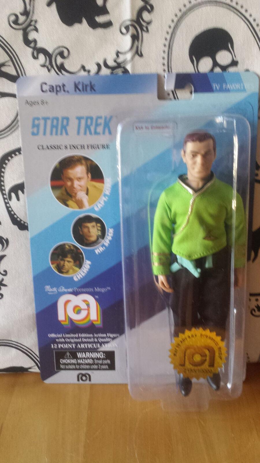 MEGO Star Trek Capt. Kirk Green Shirt 8  Action Figure