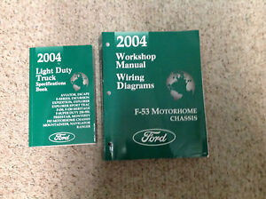 2004 ford f 53 f53 motorhome chassis service repair shop manual w rh ebay com Ford Motorhome Wiring Diagram Ford F53 Motorhome Chassis Manual