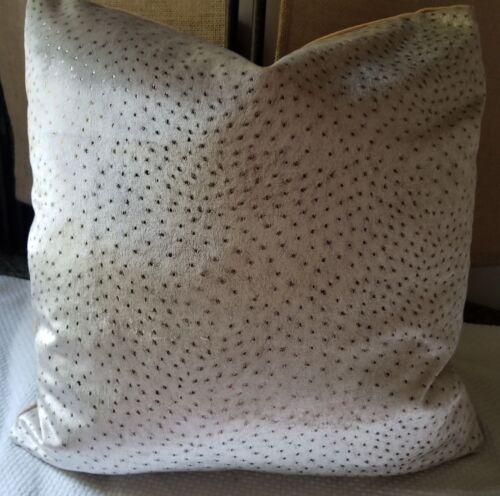 Kravet Couture ANIMAL ALLURE Copper Italian Velvet Pillow Cover Modern Luxe