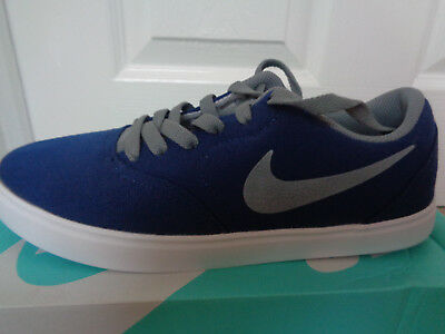 Nike Boy's Sb Check Canvas (Ps) Skateboarding Shoes (BlackBlackWhitePhoto Blue)
