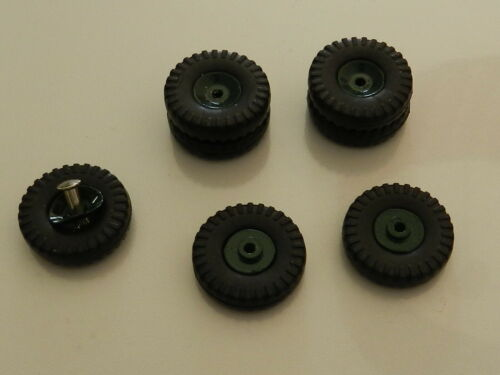 Details about  /Dinky 569 set of 7 green wheels tires show original title spare wheel tray stradair